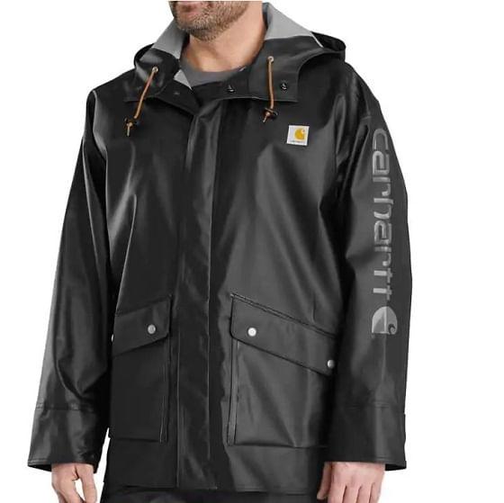 Carhartt-Men-s-Waterproof-Rain-Storm-Jacke---Black-243294