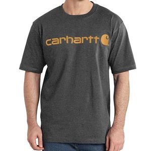 Carhartt Men's Signature Logo Short Sleeve  T-Shirt - Carbon Heather