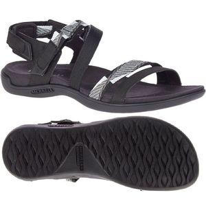 Merrell Women's Mendi Backstrap Sandals - Black/White