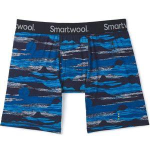 Smartwool Men's Merino 150 Print Boxer Briefs - Deep Navy Canyon Sunset Print