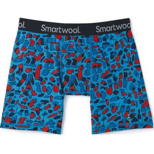 Smartwool Men's Merino 150 Print Boxer Briefs - Ocean Blue Balabar Print