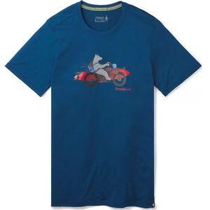 Smartwool Men's Merino Sport 150 Motor Bear Tee - Alpine Blue