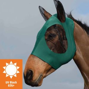 Weatherbeeta Stretch Bug Eye Saver Mask w/Ears - Hunter/Black