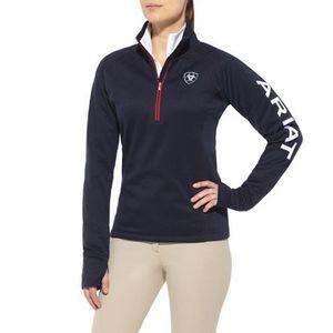 Ariat Women's Team Tek 1/4 Zip Pullover - Navy