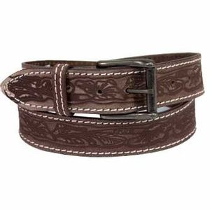 Keldon Western Embossed Belt - Brown