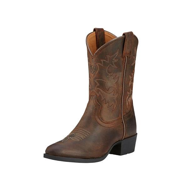 Ariat-Kid-s-Heritage-Western-Boots---Distressed-Brown-133288