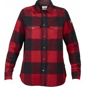 Fjallraven Women's Canada Long Sleeve Flannel Shirt - Red