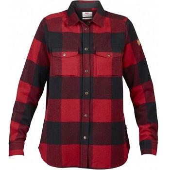 Fjallraven-Women-s-Canada-Long-Sleeve-Flannel-Shirt---Red-209215