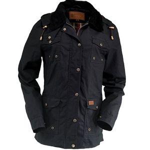 Outback Trading Women's Jill-A-Roo Oilskin Jacket - Black