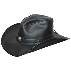 Head'N Home Western Leather Hat - Black