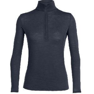 Icebreaker Women's Aero Long Sleeve Half Zip - Black/Stealth