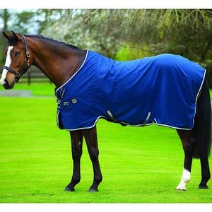 Rambo Helix Stable Sheet - Navy/Beige/Baby Blue/Navy