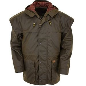 Outback Trading Swagman Oilskin Jacket - Bronze