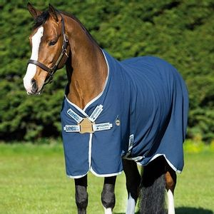 Rambo Helix Stable Sheet with Disc - Navy/Silver
