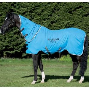 Rambo Fleece Drying Blanket - Blue/Black/White