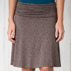 Toad & Co Women's Chaka Skirt - Falcon Brown Tapestry Print