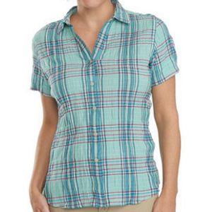 Woolrich Women's Carrabelle Short Sleeve Shirt - Robins Egg