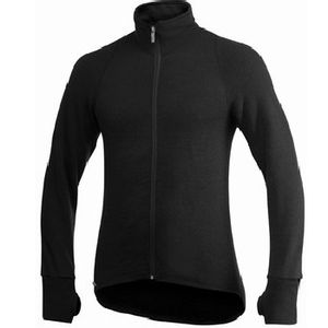 Woolpower Unisex Full Zip Jacket 400 - Black