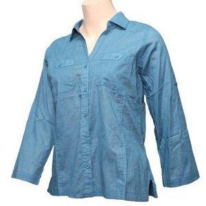 Royal Robbins Women's Convertible Camp Shirt - Cornflower *Clearance*
