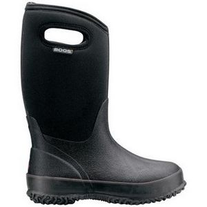 Bogs Kid's Classic Black Boots with Handles