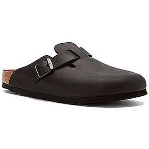 Birkenstock Boston Black Natural Leather (059461)
