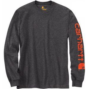 Carhartt Men's Signature Sleeve Logo Long Sleeve Tee - Carbon Heather