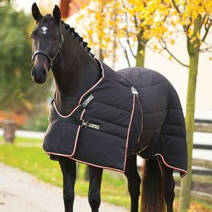 Rambo Optimo 400g Stable Rug - Black/Tan/Orange/Black