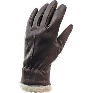 Auclair Women's Berber Boa Gloves - Dark Brown