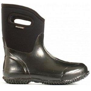 Bogs Women's Classic Mid Shiny Boots - Black