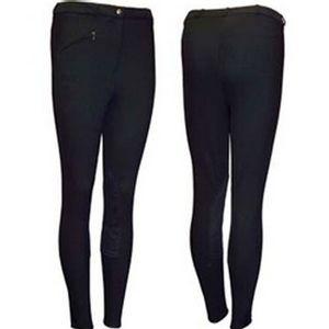 Tuffrider Women's Fleece Pull On Breech - Black
