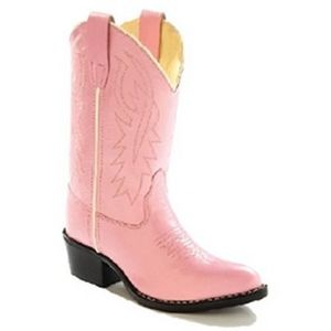 Old West Child's Corona Western Boot - Pink