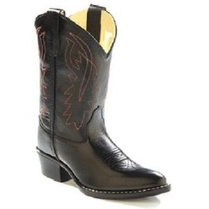 Old West Child's  Corona  Western Boot - Black