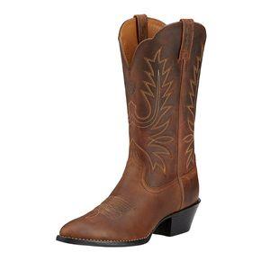 Ariat Women's Heritage Western R Toe - Distressed Brown