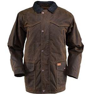 Outback Trading Men's Pathfinder Oilskin Jacket - Bronze