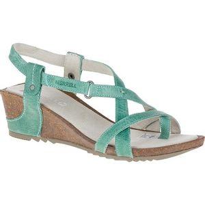 Merrell Women's Revalli Post Wedge Sandals - Jade