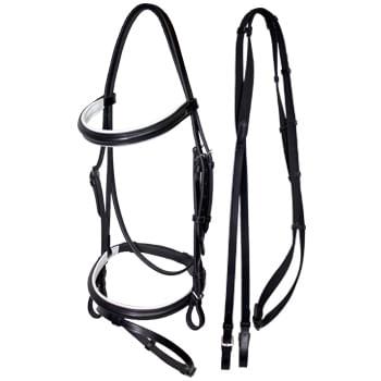HDR-Advantage-Padded-Dressage-Snaffle-Bridle---Black-White-10998