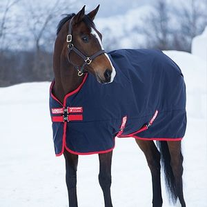 Rambo Original 200g Turnout Blanket - Navy/Red
