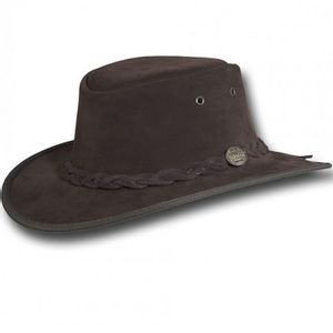 Barmah Squashy Suede Outback Hat - Chocolate