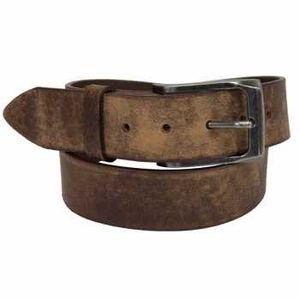 Keldon Wide Loop Belt with Oblong Buckle - Distressed Brown