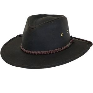 Outback Trading Grizzly Oilskin Hat - Brown