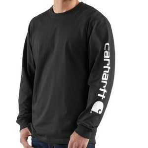 Carhartt Men's Long Sleeve Graphic T-Shirt - Black