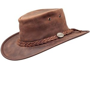 Barmah Foldaway Bronco Outback Hat - Brown