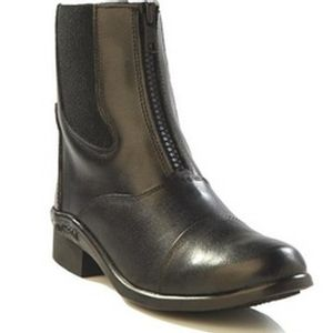 Old West Women's Zip Paddock Boot - Black