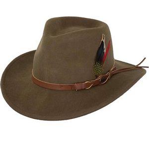 Outback Trading Randwick Australian Wool Hat - Brown