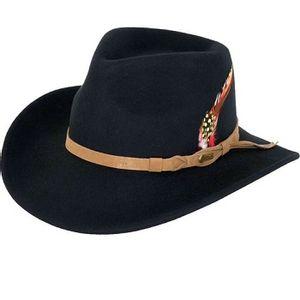 Outback Trading Randwick Australian Wool Hat - Black