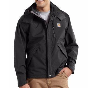 Carhartt Men's Shoreline Heavy Duty Waterproof Rain Jacket - Black