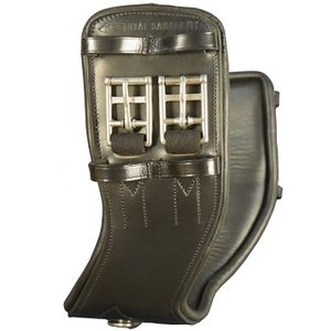 Total Saddle Fit Shoulder Relief Dressage Girth - Leather/Leather - Black