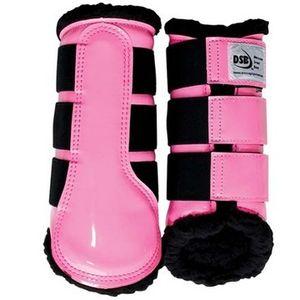 DSB Dressage Sport Boots - Patent - Pink/Black