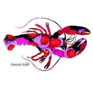 Hannah Hicks Art Card - Lobster