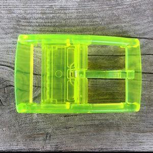 C4 Classic Neon Yellow Belt Buckle